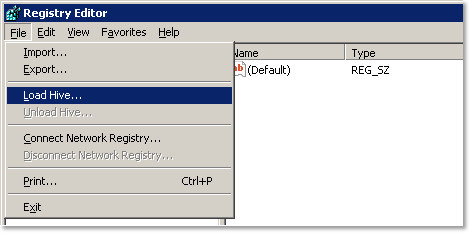 Load user registry hive in regedit